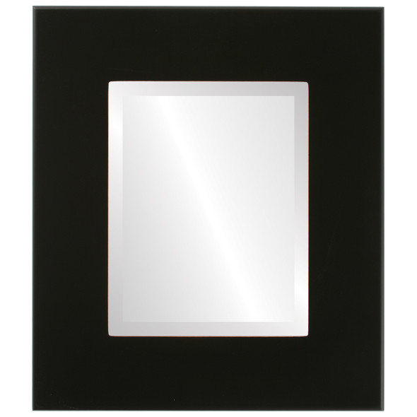 Beveled Mirror - Boulevard Rectangle Frame - Rubbed Black