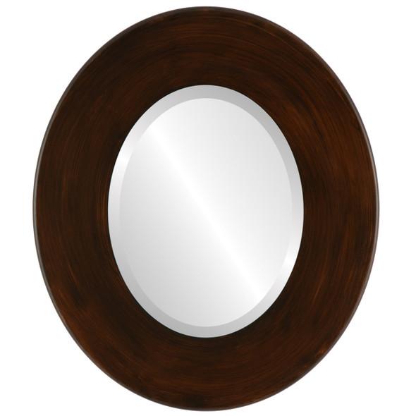 Beveled Mirror - Boulevard Oval Frame - Mocha