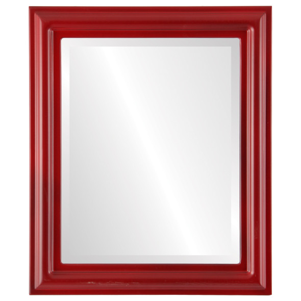 Beveled Mirror - Philadelphia Rectangle Frame - Holiday Red