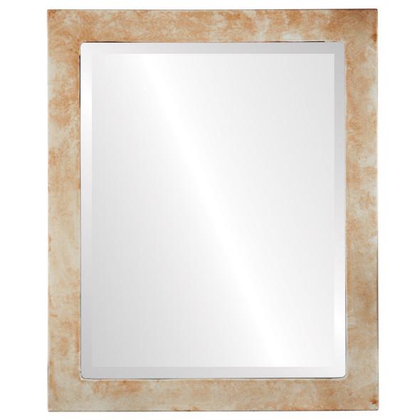 Beveled Mirror - Vienna Rectangle Frame - Burnished Silver