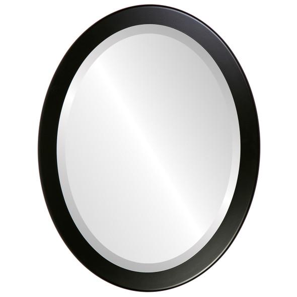 Beveled Mirror - Vienna Oval Frame - Matte Black