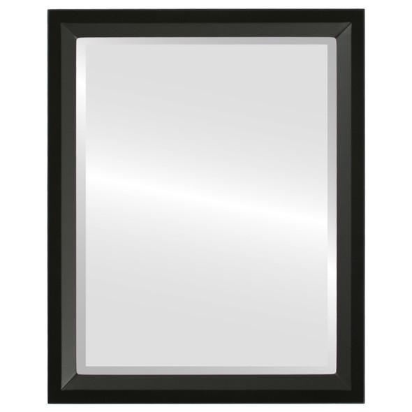 Beveled Mirror - Huntington Rectangle Frame - Matte Black