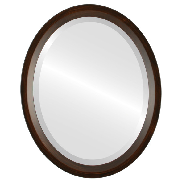 Beveled Mirror - Huntington Oval Frame - Mocha