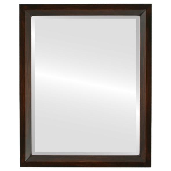 Beveled Mirror - Huntington Rectangle Frame - Mocha