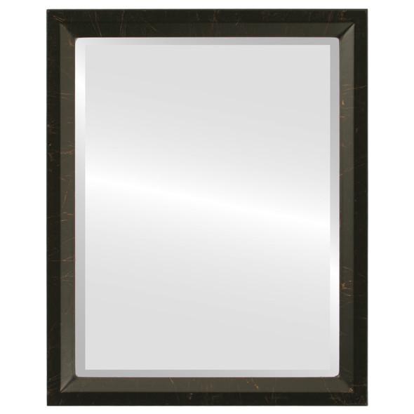 Beveled Mirror - Huntington Rectangle Frame - Veined Onyx