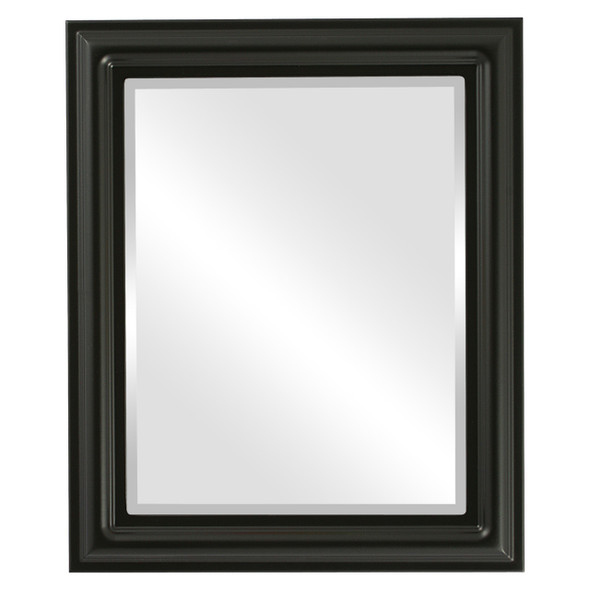 Beveled Mirror - Philadelphia Rectangle Frame - Matte Black