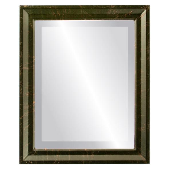 Beveled Mirror - Newport Rectangle Frame - Veined Onyx
