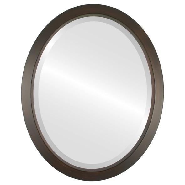 Beveled Mirror - Regatta Oval Frame - Mocha