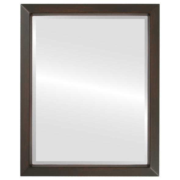 Beveled Mirror - Regatta Rectangle Frame - Mocha