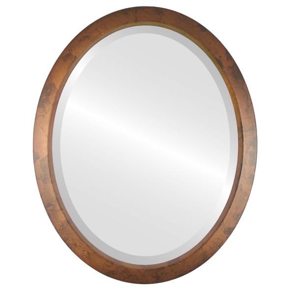Beveled Mirror - Regatta Oval Frame - Venetian Gold