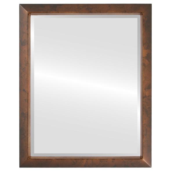 Beveled Mirror - Regatta Rectangle Frame - Venetian Gold