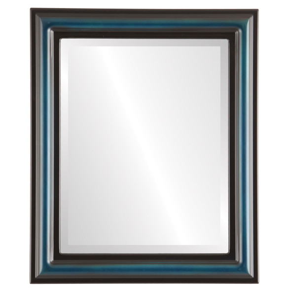 Beveled Mirror - Philadelphia Rectangle Frame - Royal Blue