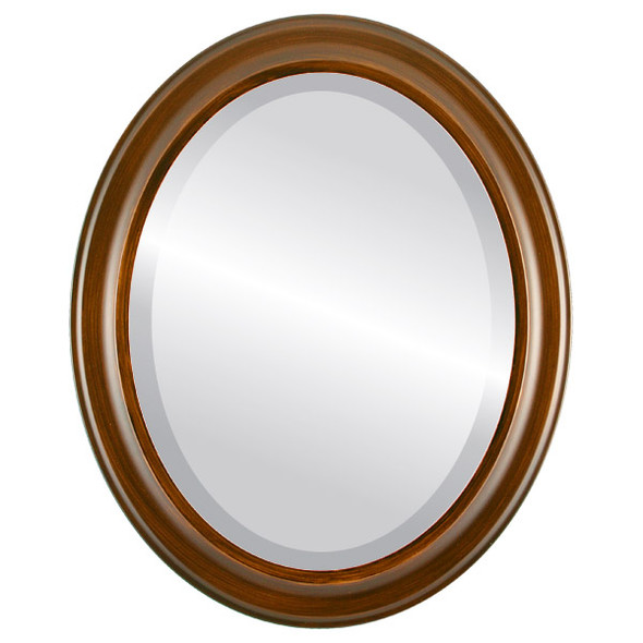 Beveled Mirror - Messina Oval Frame - Mocha