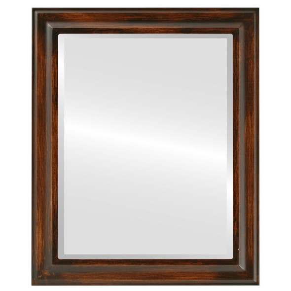 Beveled Mirror - Messina Rectangle Frame - Mocha