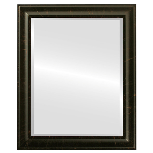 Beveled Mirror - Messina Rectangle Frame - Veined Onyx