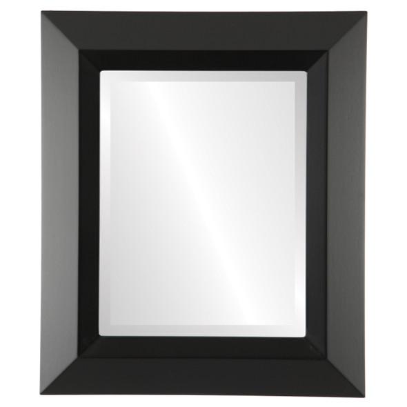 Beveled Mirror - Veneto Rectangle Frame - Matte Black