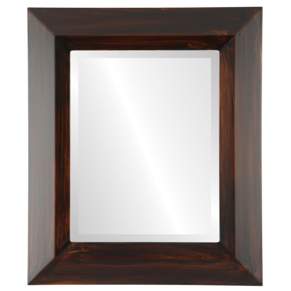 Beveled Mirror - Veneto Rectangle Frame - Mocha