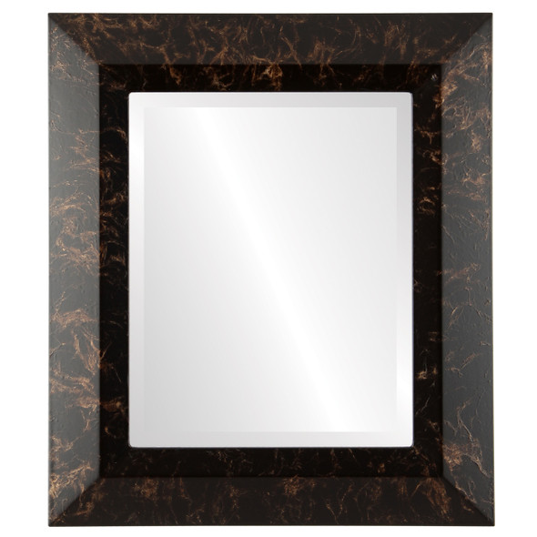 Beveled Mirror - Veneto Rectangle Frame - Veined Onyx