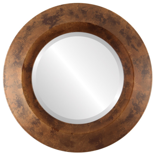 Beveled Mirror - Veneto Round Frame - Venetian Gold