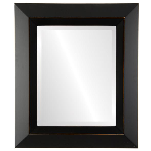 Beveled Mirror - Veneto Rectangle Frame - Rubbed Black
