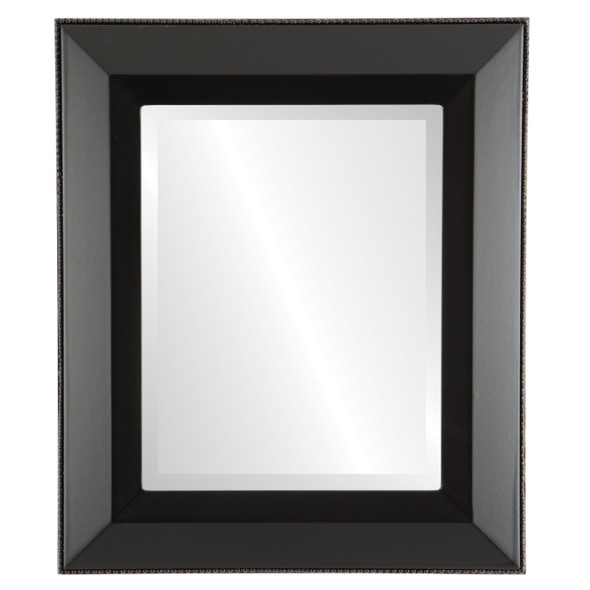 Beveled Mirror - Lombardia Rectangle Frame - Matte Black