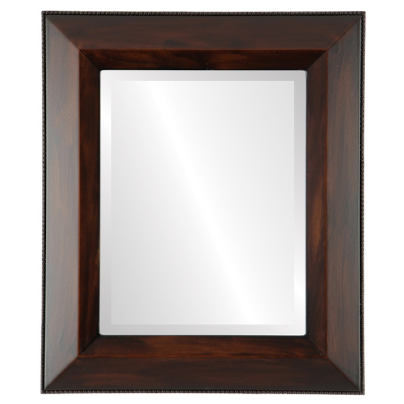 Beveled Mirror - Lombardia Rectangle Frame - Mocha