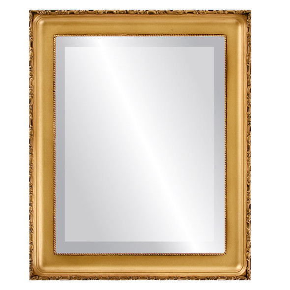 Beveled Mirror - Kensington Rectangle Frame - Desert Gold