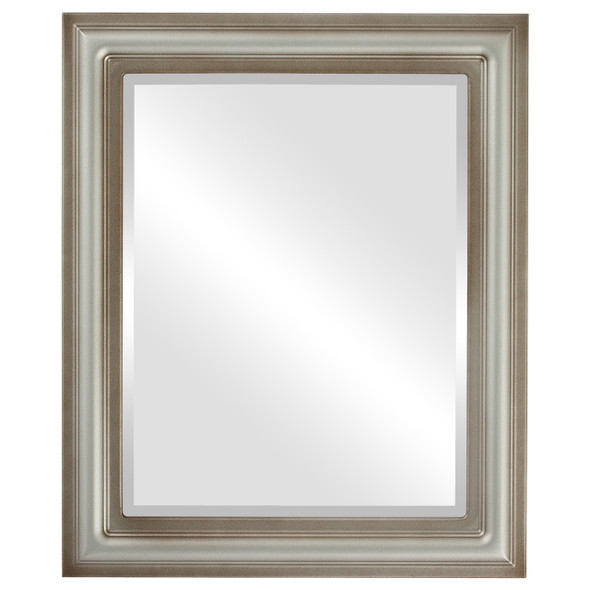 Beveled Mirror - Philadelphia Rectangle Frame - Silver Shade