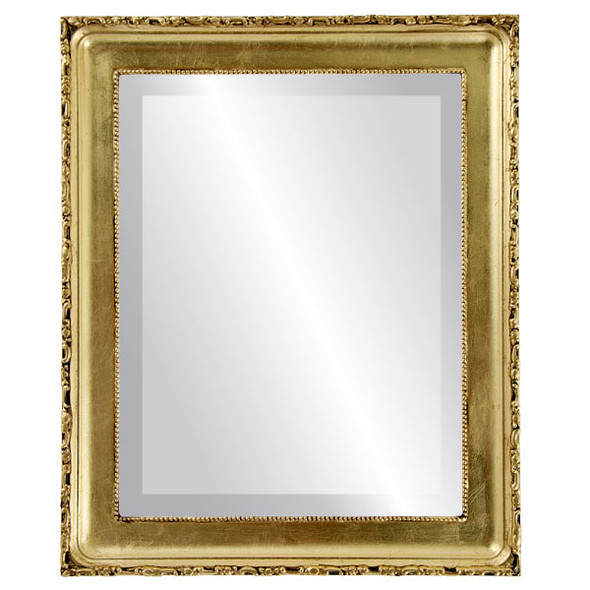 Beveled Mirror - Kensington Rectangle Frame - Gold Leaf