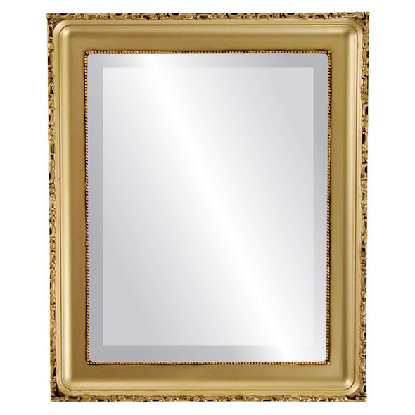 Beveled Mirror - Kensington Rectangle Frame - Gold Spray