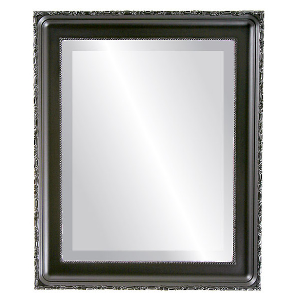 Beveled Mirror - Kensington Rectangle Frame - Matte Black