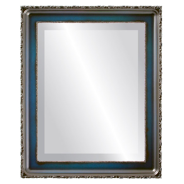 Beveled Mirror - Kensington Rectangle Frame - Royal Blue