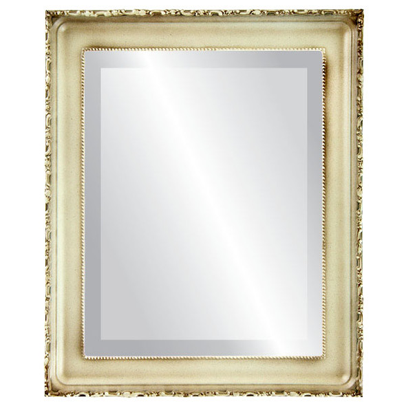 Beveled Mirror - Kensington Rectangle Frame - Taupe
