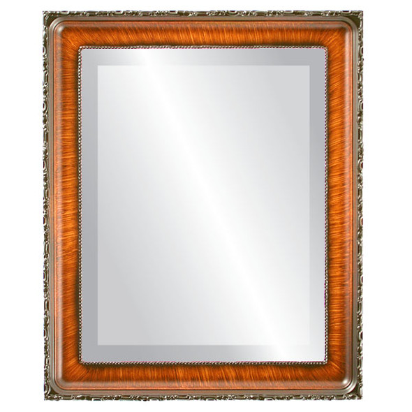 Beveled Mirror - Kensington Rectangle Frame - Vintage Walnut