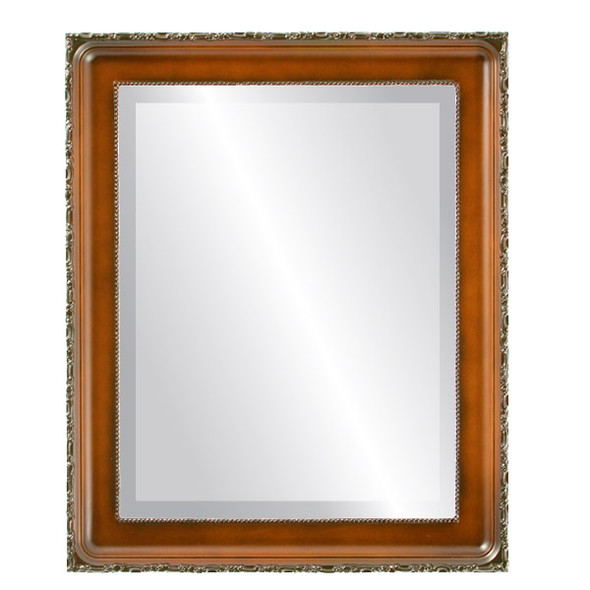 Beveled Mirror - Kensington Rectangle Frame - Walnut