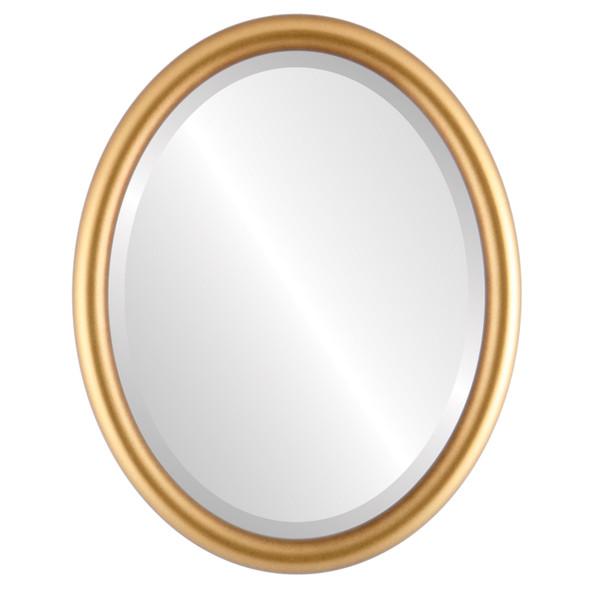 Beveled Mirror - Pasadena Oval Frame - Desert Gold