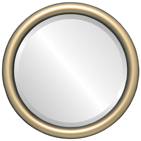 Pasadena Framed Round Mirror - Desert Gold