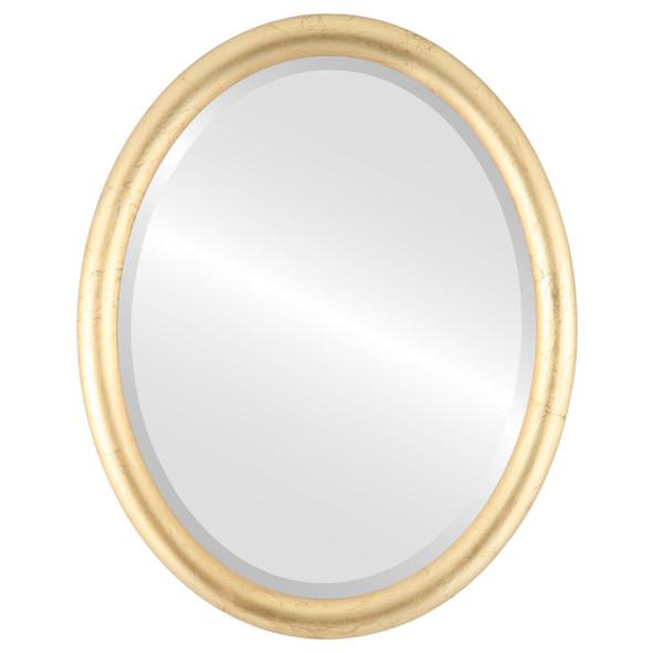 Bevelled Mirror - Pasadena Oval Frame - Gold Leaf