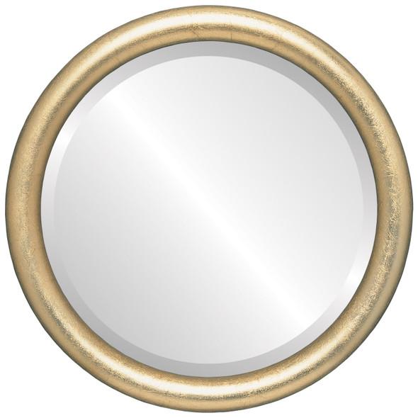 Bevelled Mirror - Pasadena Round Frame - Gold Leaf