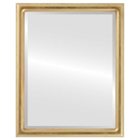 Bevelled Mirror - Pasadena Rectangle Frame - Gold Leaf