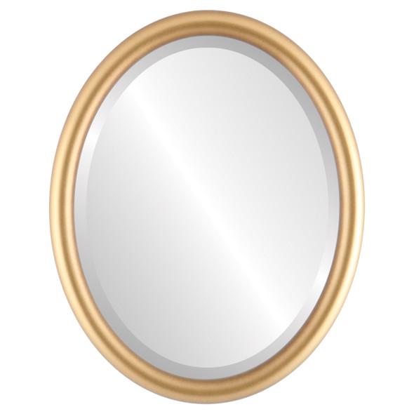 Bevelled Mirror - Pasadena Oval Frame - Gold Spray