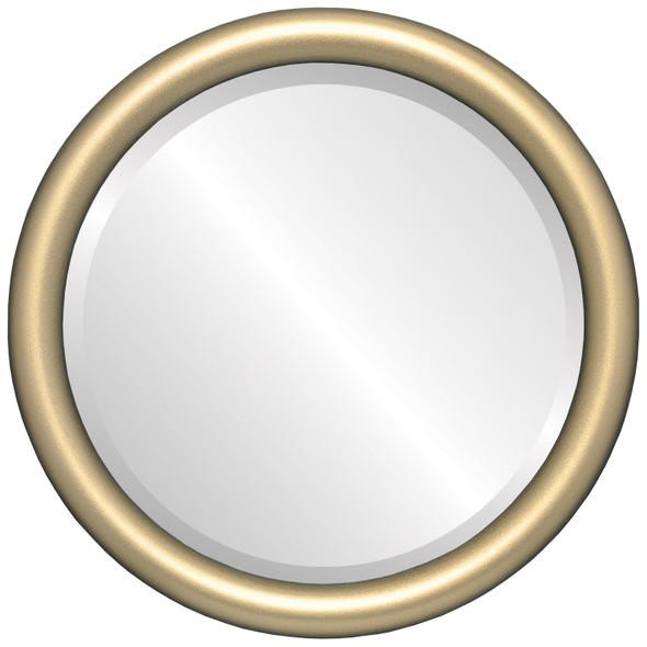 Bevelled Mirror - Pasadena Round Frame - Gold Spray