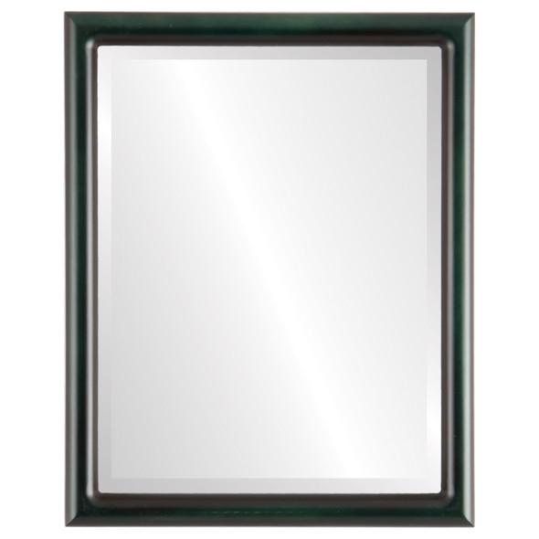 Bevelled Mirror - Pasadena Rectangle Frame - Hunter Green