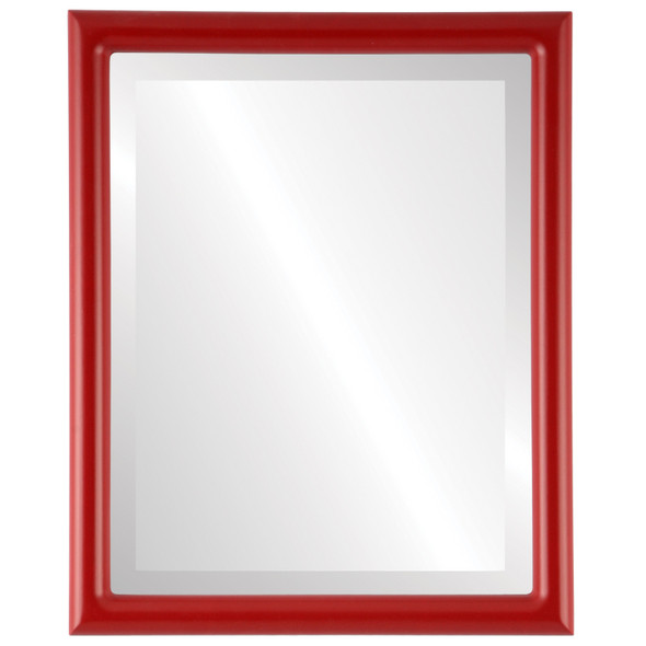 Bevelled Mirror - Pasadena Rectangle Frame - Holiday Red