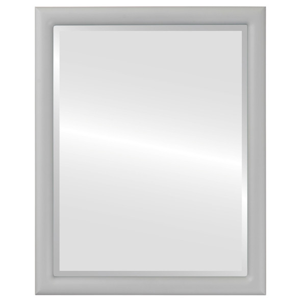 Bevelled Mirror - Pasadena Rectangle Frame - Linen White