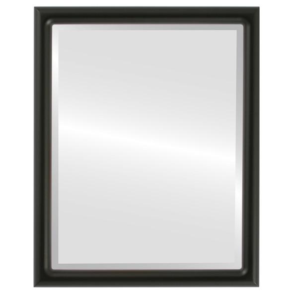 Bevelled Mirror - Pasadena Rectangle Frame - Matte Black