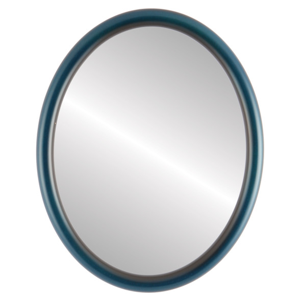 Beveled Mirror - Pasadena Oval Frame - Royal Blue