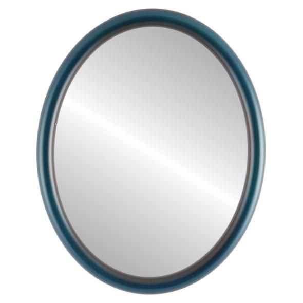 Flat Mirror - Pasadena Oval Frame - Royal Blue