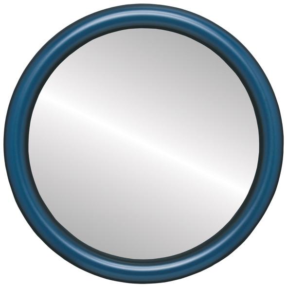 Flat Mirror - Pasadena Circle Frame - Royal Blue