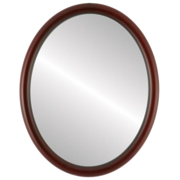 Flat Mirror - Pasadena Oval Frame - Rosewood